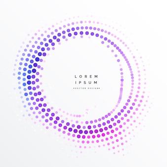 Design radial colorido de meio-tom