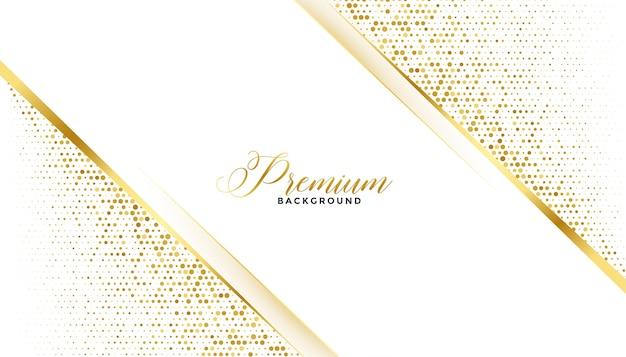 Design real premium com fundo dourado brilhante