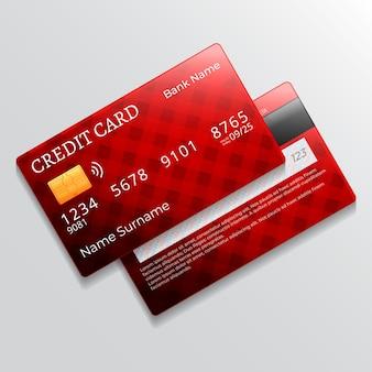 Design realista de cartão de crédito