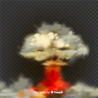 Design realista de efeito de fumaça de bomba