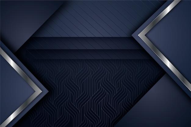 Design realista de fundo de formas geométricas