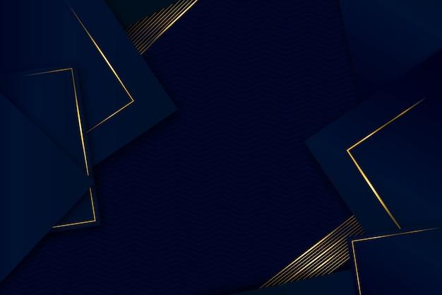 Design realista de fundo elegante de formas geométricas