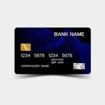 Design realista e detalhado de cartão de crédito