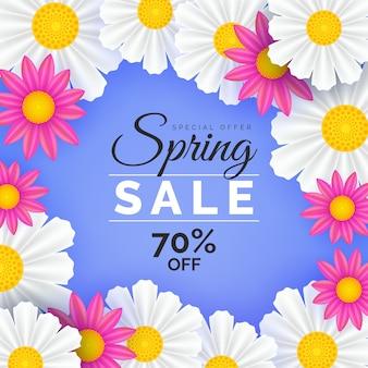 Design realista para venda de primavera