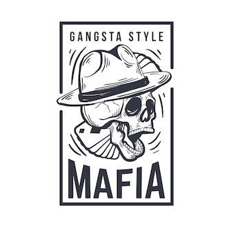Design retrô de logotipo da máfia