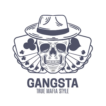 Design retro de logotipo de gangster
