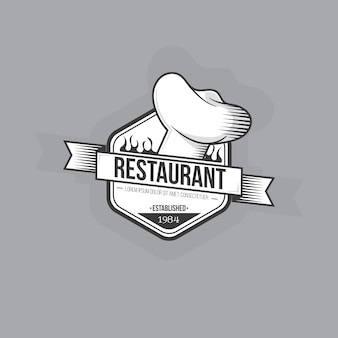 Design retro de logotipo de restaurante