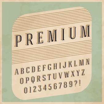 Design retro do alfabeto