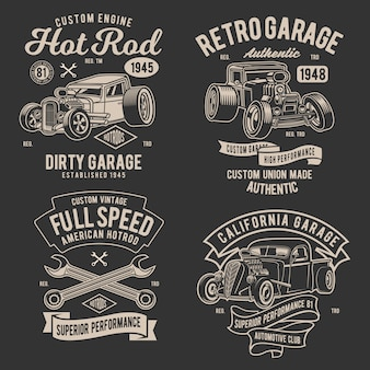Design retro hotrod