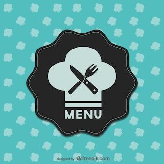 Design retro menu de comida