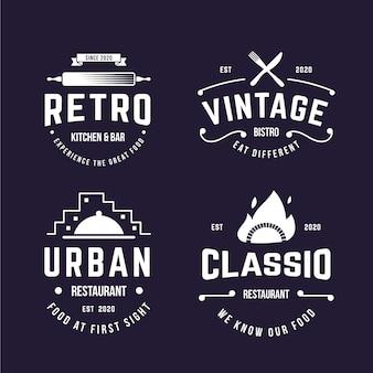 Design retro para pacote de logotipo
