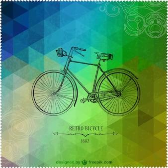 Design retro triângulo bicicleta