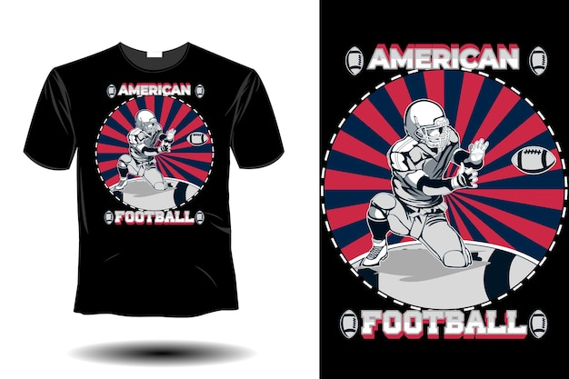 Design retro vintage de futebol americano