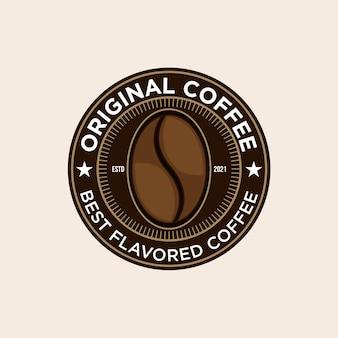 Design retro vintage do logotipo original da cafeteria