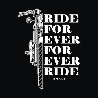Design retro vintage para motociclista