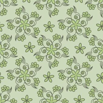 Design retro vintage retro abstrato sem costura padrão floral