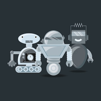 Design robótico com robôs dos desenhos animados