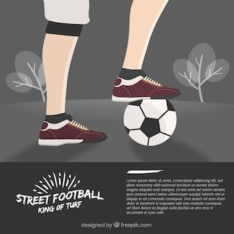 Design rua fundo do futebol