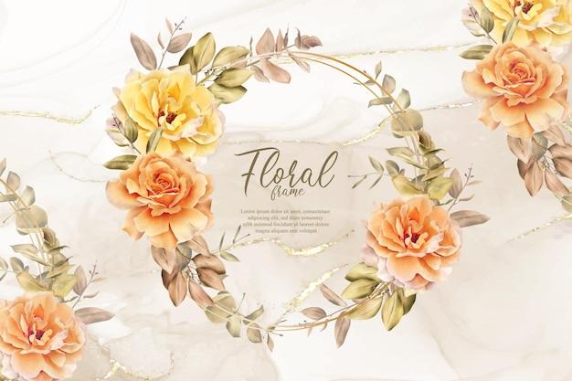 Design rústico de convite para casamento outono outono boêmio