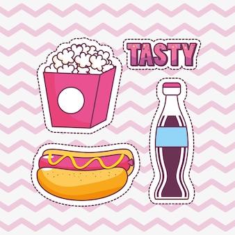 Design saboroso e fast food