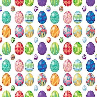 Design sem costura com ovos de páscoa