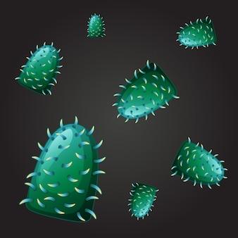 Design sem costura para vírus verde