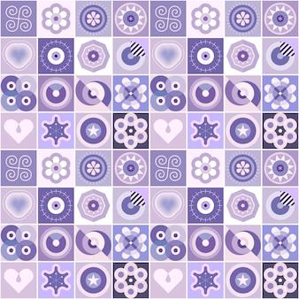 Design sem emenda de padrões abstratos