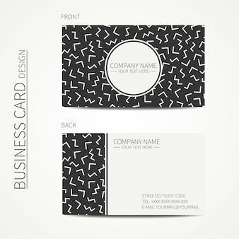 Design simples cartão de visita