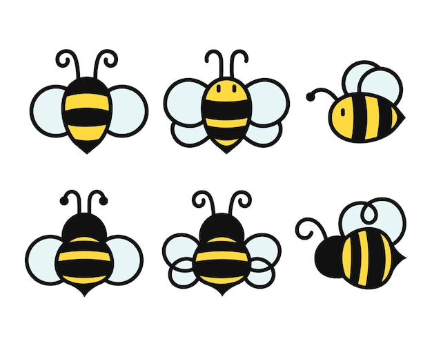Design simples de abelha voadora