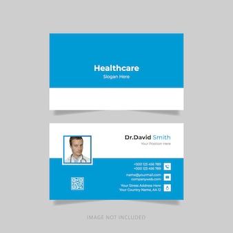 Design simples de cartão de visita médico
