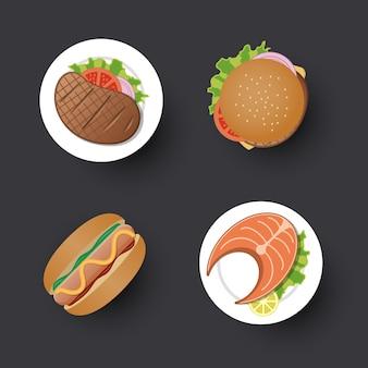 Design simples de comida tradicional