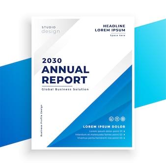 Design simples de modelo de folheto de negócios para relatório anual