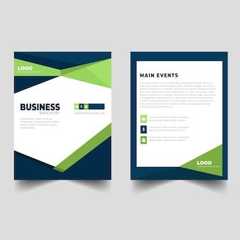 Design simples de modelo de panfleto de negócios corporativos