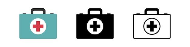 Design simples do ícone da caixa de primeiros socorros