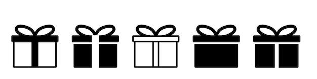 Design simples do símbolo do ícone do presente