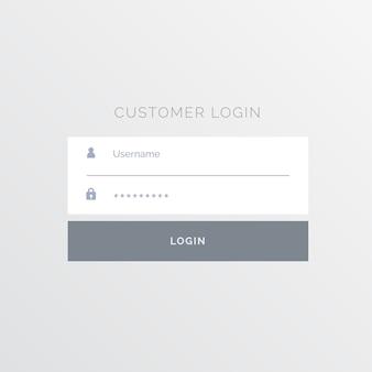 Design simples modelo de formulário de login branco