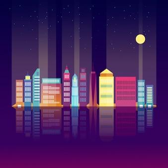 Design skyline colorido