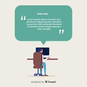 Design testimonial