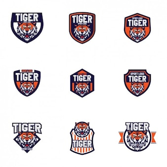 Design tigres modelos de logotipo