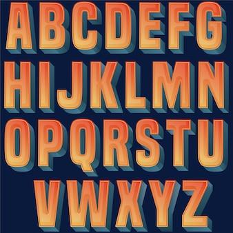 Design tipografia brilhante colorido