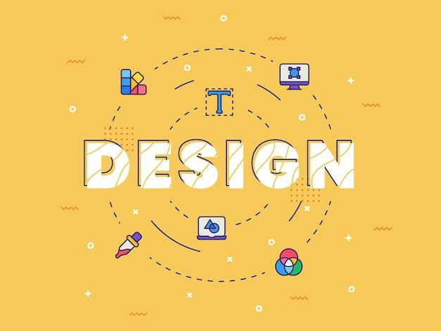 Design tipografia caligrafia word art