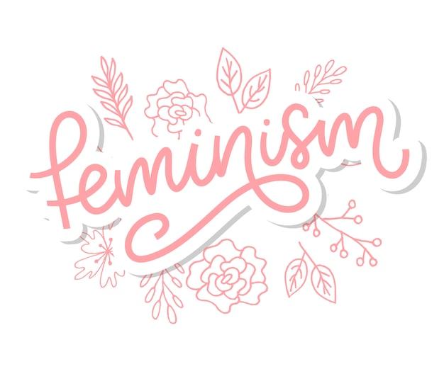 Design tipográfico. carta de feminismo.