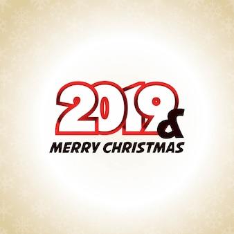 Design tipográfico de ano novo de 2019