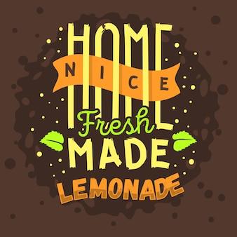 Design tipográfico de limonada caseira