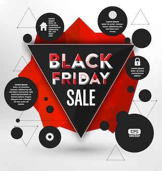 Design tipográfico de sexta feira negra