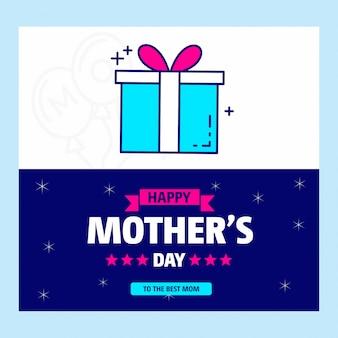 Design tipográfico do dia das mães