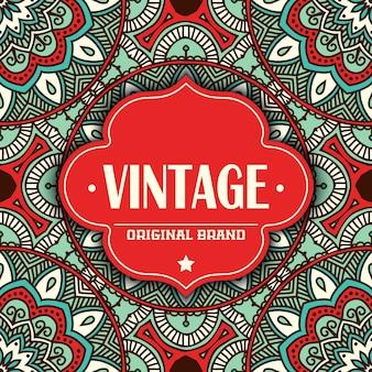 Design tribal do vintage
