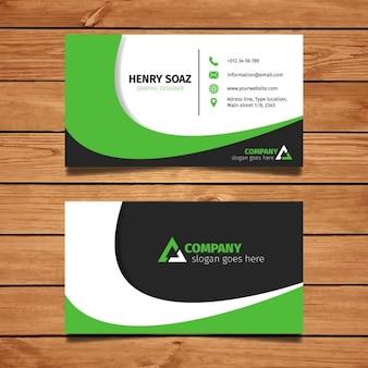 Design verde moderno do cartão