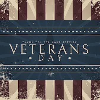 Design vintage comemorando o dia dos veteranos