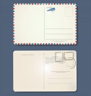 Design vintage retrô de grunge vazio cartão postal